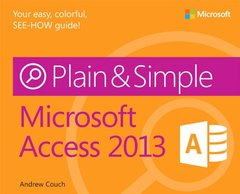 Microsoft Access 2013 Plain & Simple (Paperback)-cover