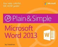 Microsoft Word 2013 Plain & Simple (Paperback)-cover