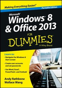 Windows 8 and Office 2013 For Dummies (Paperback)-cover