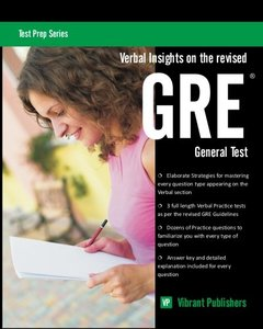 Verbal Insights on the revised GRE General Test (Paperback)-cover