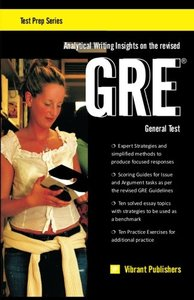 Analytical Writing Insights on the revised GRE General Test (Paperback)-cover