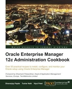 Oracle Enterprise Manager 12c Administration Cookbook-cover