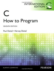 C : How to Program, 7/e (IE-Paperback)-cover
