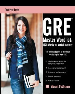 GRE Master Wordlist: 1535 Words for Verbal Mastery (Paperback)-cover
