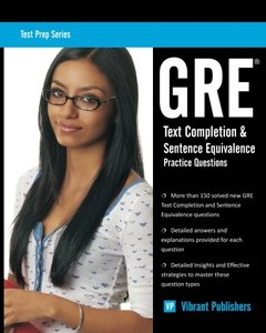 GRE Text Completion and Sentence Equivalence Practice Questions (Volume 1) (Paperback)-cover
