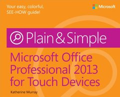 Microsoft Office Professional 2013 for Touch Devices Plain & Simple (Paperback)-cover