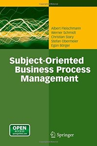Subject-Oriented Business Process Management (Hardcover)-cover