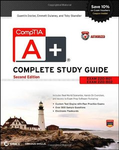 CompTIA A+ Complete Study Guide Authorized Courseware: Exams 220-801 and 220-802 (Paperback)-cover