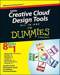 Adobe Creative Cloud Design Tools All-in-One For Dummies (Paperback)-cover