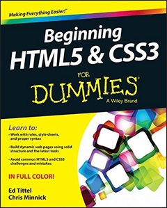 Beginning HTML5 and CSS3 For Dummies (Paperback)-cover
