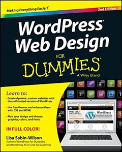 WordPress Web Design For Dummies, 2/e (Paperback)-cover