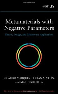 Metamaterials with Negative Parameters: Theory, Design and Microwave Applications(Hardcover)-cover