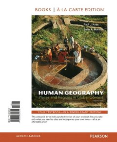 Human Geography: Places and Regions in Global Context, Books a la Carte Edition, 6/e(Loose Leaf)-cover