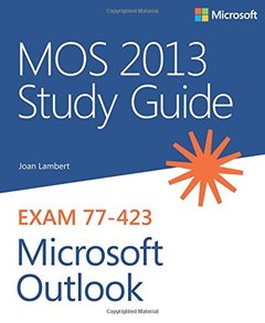 MOS 2013 Study Guide for Microsoft Outlook (Paperback)-cover
