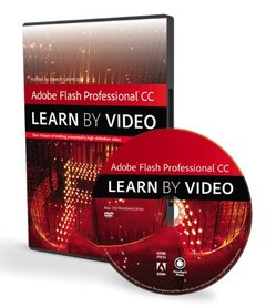 Adobe Flash Professional CC: Learn by Video (DVD-ROM)-cover