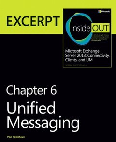 Unified Messaging: EXCERPT from Microsoft Exchange Server 2013 Inside Out (Paperback)-cover