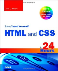 Sams Teach Yourself HTML and CSS in 24 Hours, 9/e (Paperback)-cover