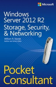 Windows Server 2012 R2 Pocket Consultant: Storage, Security, & Networking (Paperback)-cover