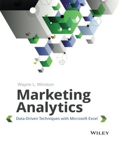 Marketing Analytics: Data-Driven Techniques with Microsoft Excel (Paperback)-cover