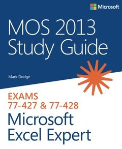 MOS 2013 Study Guide for Microsoft Excel Expert (Paperback)-cover