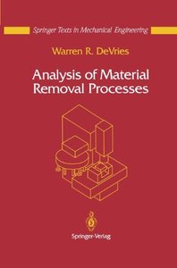 Analysis of Material Removal Processes (Hardcover)-cover