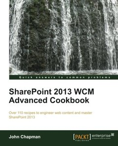 SharePoint 2013 WCM Advanced Cookbook-cover