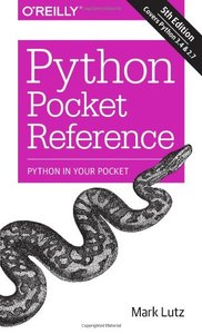 Python Pocket Reference, 5/e (Paperback)-cover