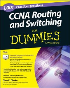 1,001 CCNA Routing and Switching Practice Questions For Dummies (+ Free Online Practice) (Paperback)-cover