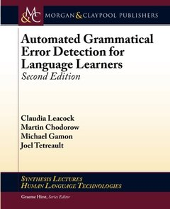 Automated Grammatical Error Detection for Language Learners, 2/e (Paperback)-cover