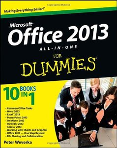 Office 2013 All-In-One For Dummies (Paperback)-cover