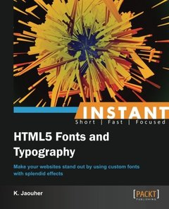 Instant HTML5 Fonts and Typography-cover