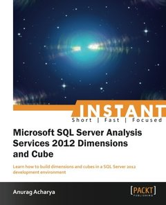 Instant Microsoft SQL ServerAnalysis Services 2012 Dimensions and Cube-cover