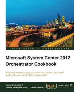Microsoft System Center 2012 Orchestrator Cookbook-cover