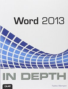 Word 2013 In Depth (Paperback)-cover