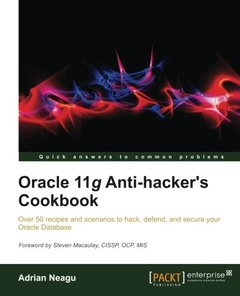 Oracle 11g Anti-Hacker's Cookbook-cover