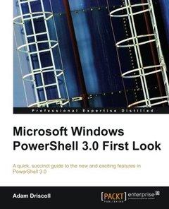 Microsoft Windows PowerShell 3.0 Firstlook-cover