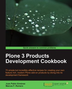 Plone 3 Products Development Cookbook-cover