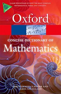 The Concise Oxford Dictionary of Mathematics (Paperback)-cover