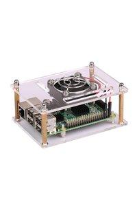 Raspberry Pi 兩片式壓克力外殼帶風扇--Pi 3 / Pi 2 / B+ 適用-cover