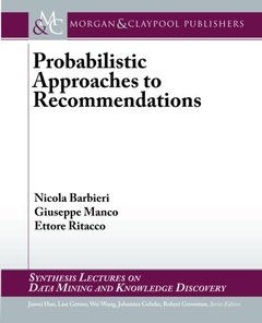 Probabilistic Approaches to Recommendations (Paperback)-cover
