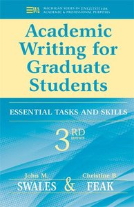 Academic Writing for Graduate Students, 3/e : Essential Tasks and Skills (Paperback)-cover