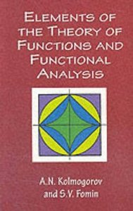 Elements of the Theory of Functions and Functional Analysis (Paperback)-cover