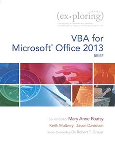 Exploring VBA for Microsoft Office 2013, Brief (Paperback)-cover