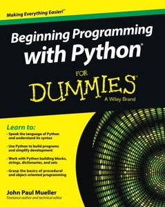 Beginning Programming with Python For Dummies (Paperback)-cover