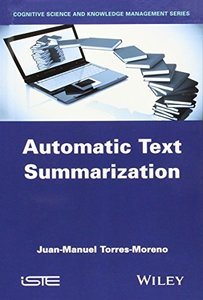 Automatic Text Summarization (Hardcover)-cover
