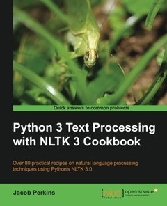 Python 3 Text Processing with NLTK 3 Cookbook (Paperback)-cover