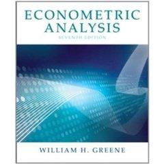 Econometric Analysis, 7/e (Hardcover)-cover