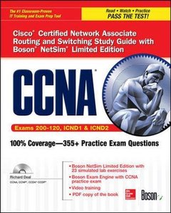 CCNA Cisco Certified Network Associate Routing and Switching Study Guide, 5/e  (Exams 200-120, ICND1, & ICND2),  with Boson NetSim Limited Edition (Paperback)-cover