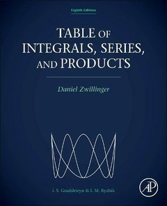 Table of Integrals, Series, and Products, 8/e (Hardcover)-cover