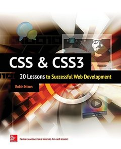 CSS & CSS3: 20 Lessons to Successful Web Development (Paperback)-cover